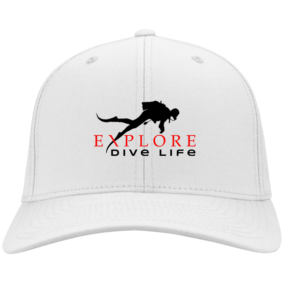 EXPLORE DIVE LIFE FLEX FIT TWILL BASEBALL CAP