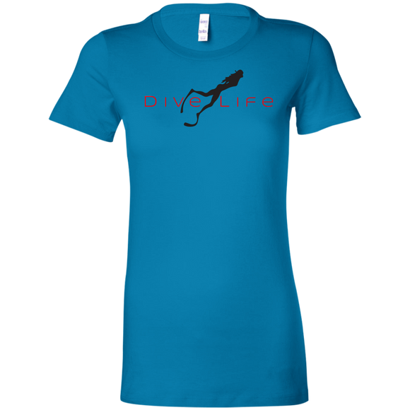 LADY'S DIVE LIFE SCUBA DIVING T-SHIRT