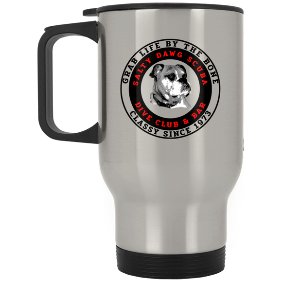 SALTY DAWG SCUBA DIVING STAINLESS STEEL TRAVEL MUG