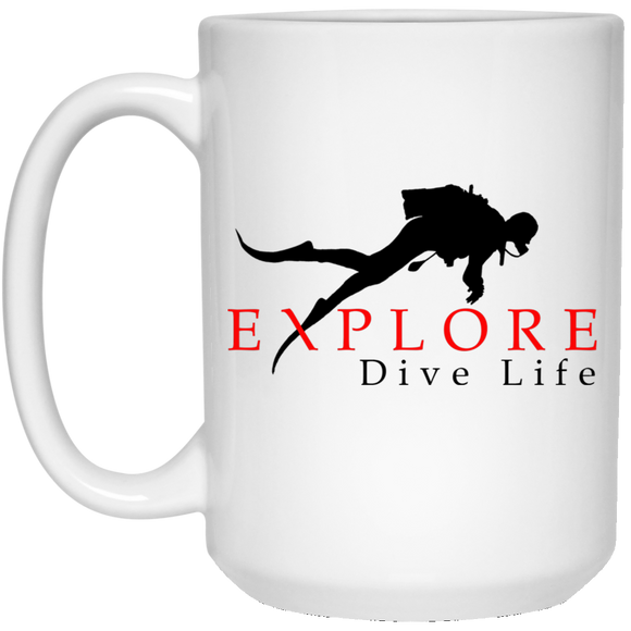 EXPLORE DIVE LIFE SCUBA DIVING COFFEE MUG
