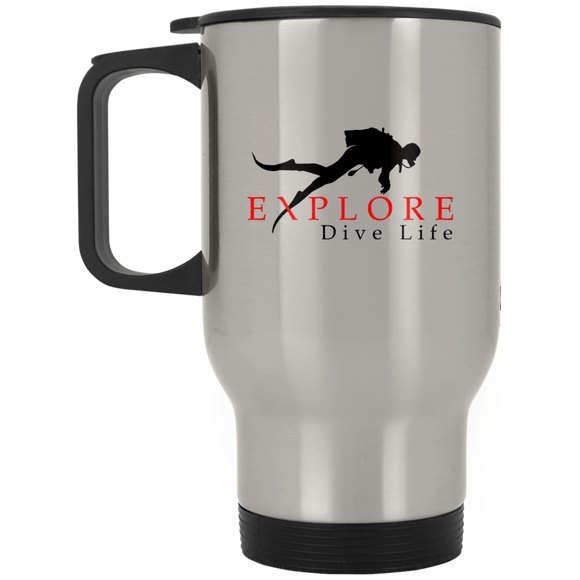 EXPLORE DIVE LIFE STAINLESS STEEL TRAVEL MUG
