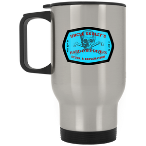 UNCLE SKULLY'S HARD CORE DIVERS SCUBA DIVING TRAVEL MUG