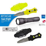 EDGE Dive Light & Dive Knife Combo Package