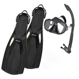 EDGE Flex SCUBA Mask Snorkel Fins Package