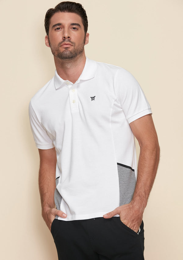 POLO SHIRT WITH MESH DETAIL