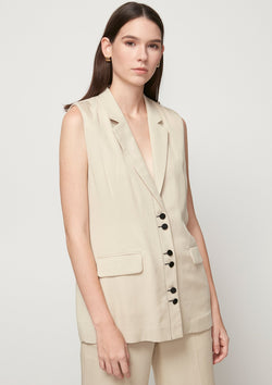 SINGLE-BREASTED SLEEVELESS BLAZER