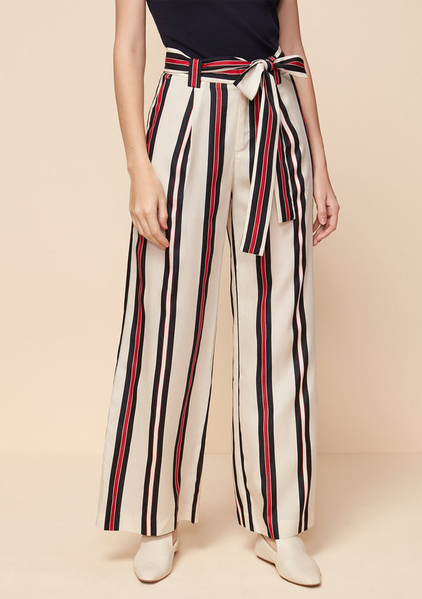 BOW WIDE LEG PANTS