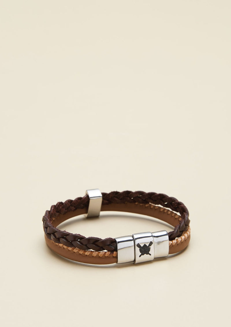 TWO-STRAND LEATHER BRACELET