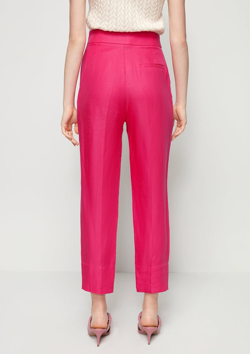 CROPPED TAPERED PANTS WITH TWO BUTTONS