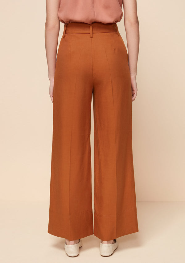 BELT WIDE LEG PANTS