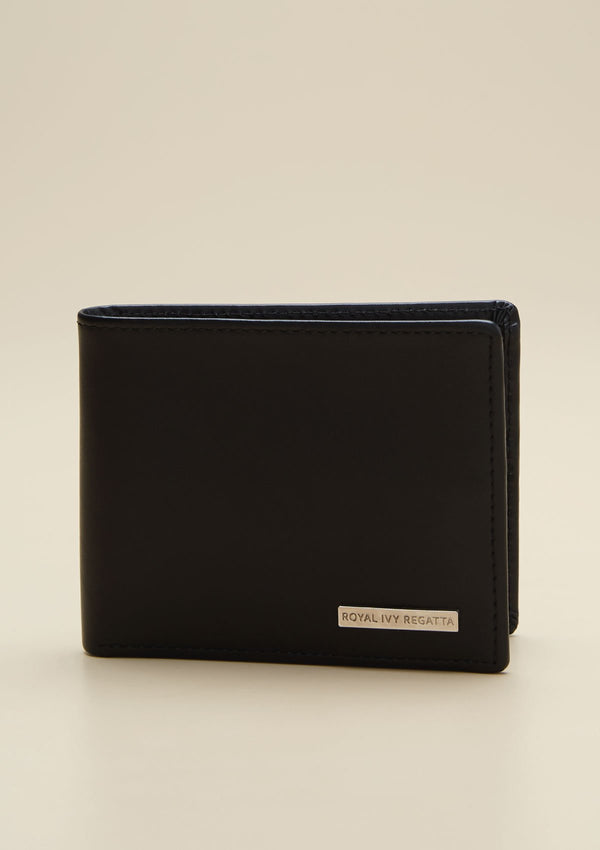 BIFOLD BLACK LEATHER WALLET
