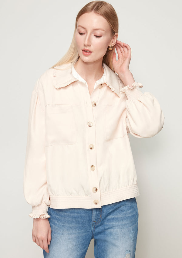 RUFFLE COLLAR SHACKET