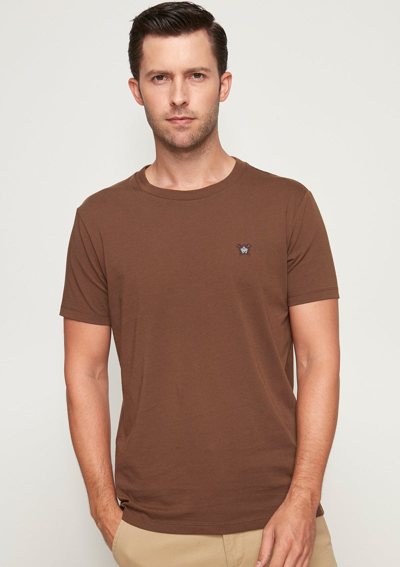 COTTON JERSEY ROUND NECK TEE