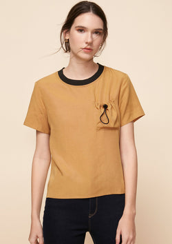 SHORT-SLEEVED TOP WITH CHEST POCKET