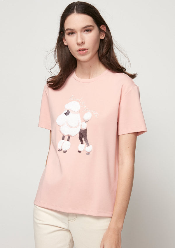 FLUFFY POODLE GRAPHIC TEE