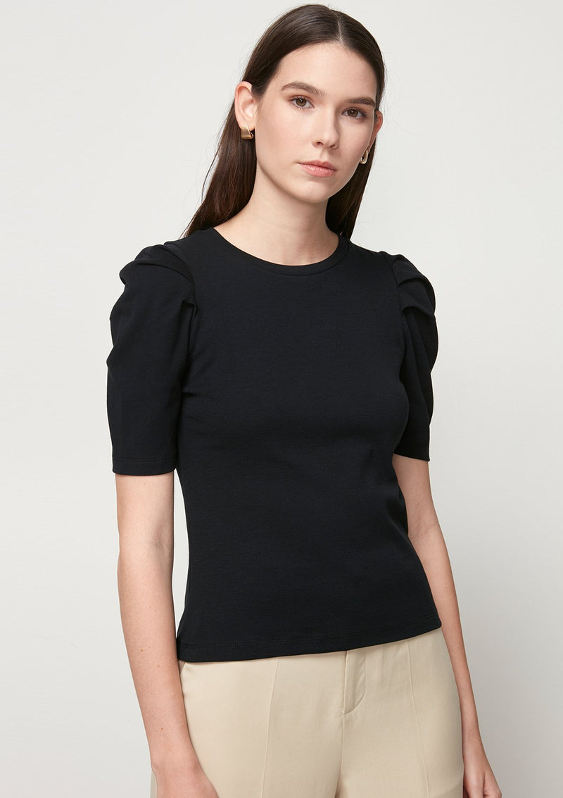 SHORT LEG-OF-MUTTON SLEEVED TOP