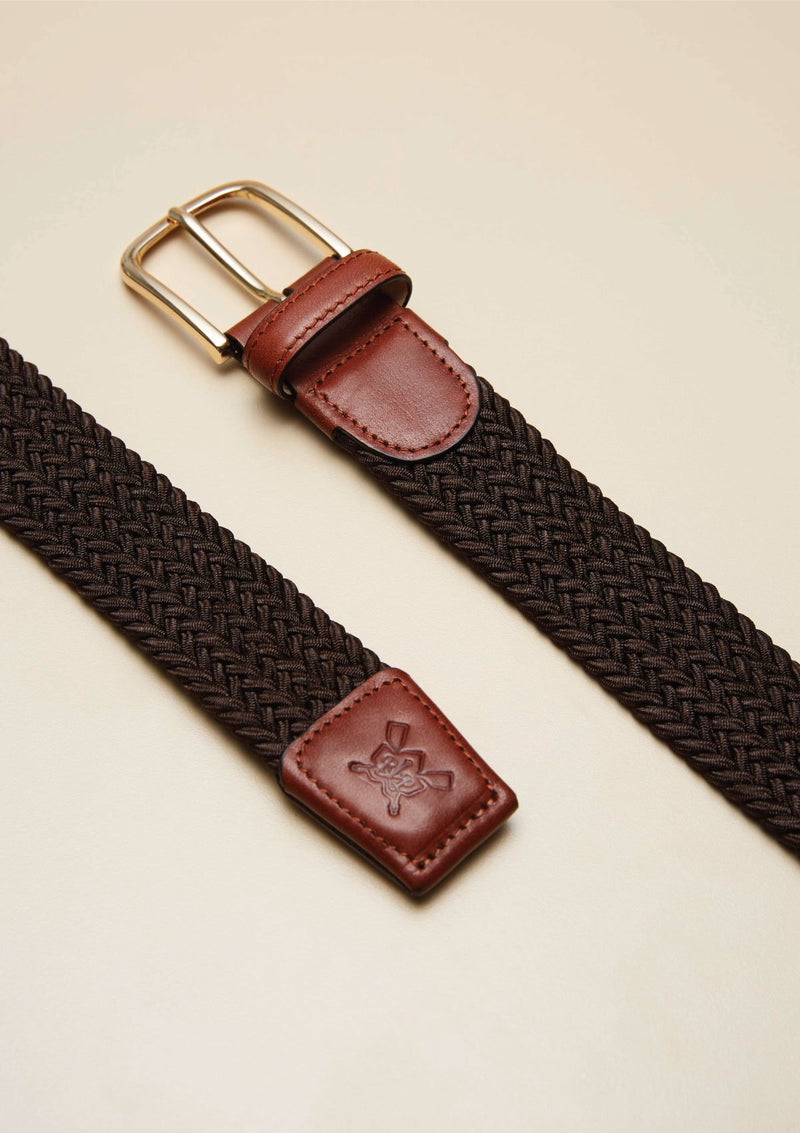 WEAVED STITCHED LEATHER BELT