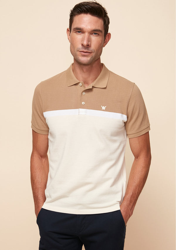 PIQUE COLOR BLOCK POLO