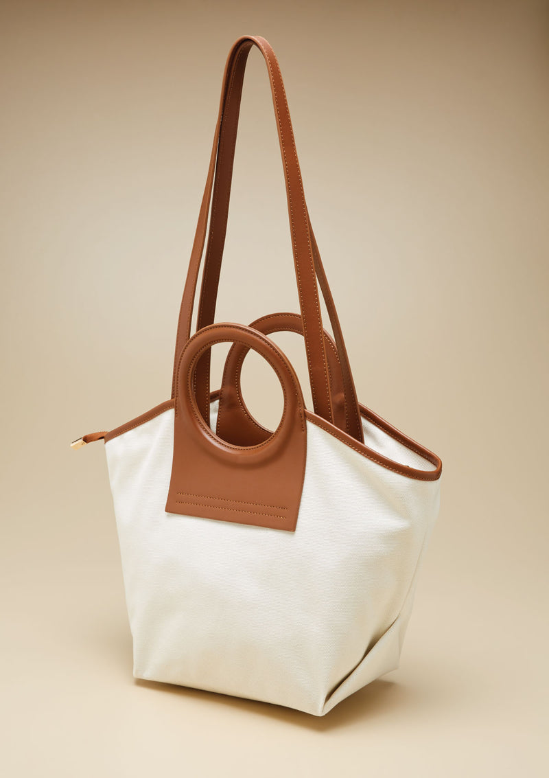 ROUND HANDLE TOTE BAG