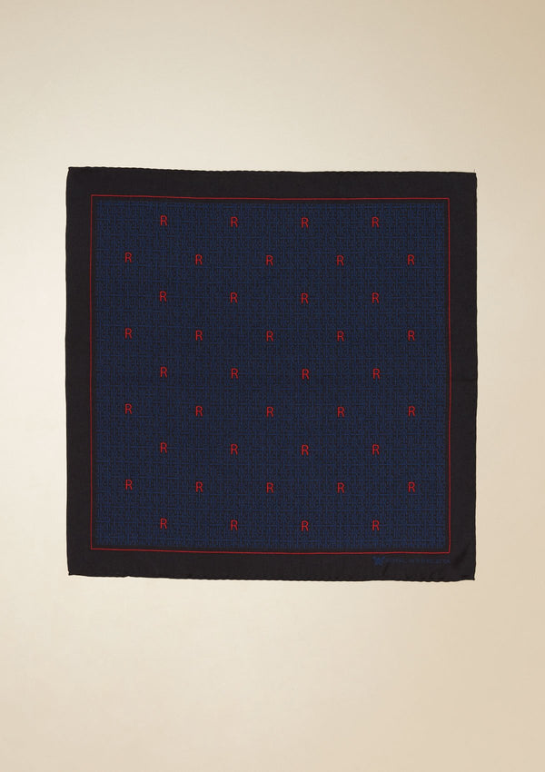 GRAPHIC SILK POCKET SQUARE