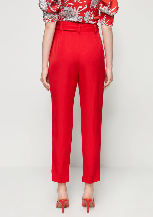 TIE-WAIST TAPERED PANTS