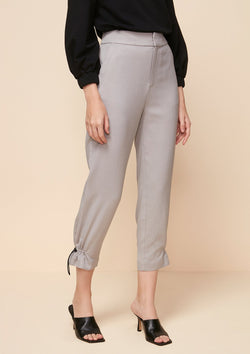 TAPERED PANTS WITH STOPPER DETAIL