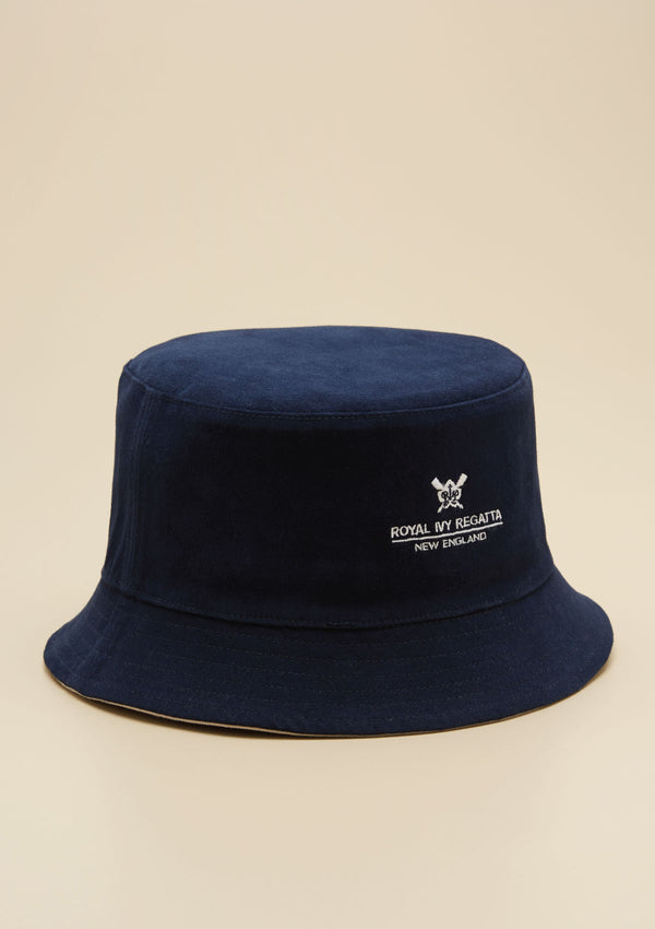 REVERSIBLE BUCKET HAT WITH LOGO DETAIL