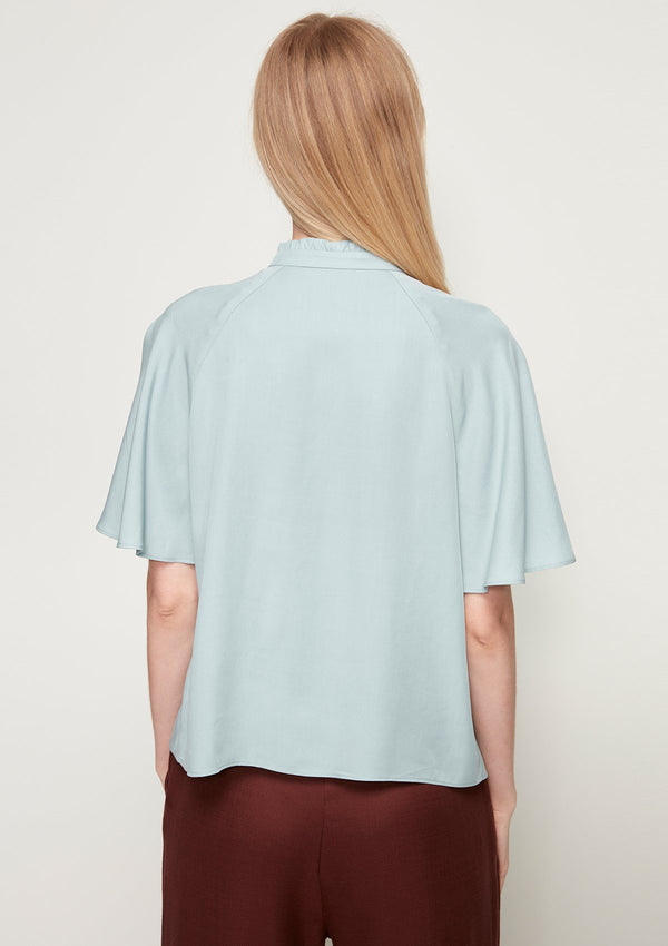 BELL-SLEEVED BLOUSE WITH RUFFLE DETAIL