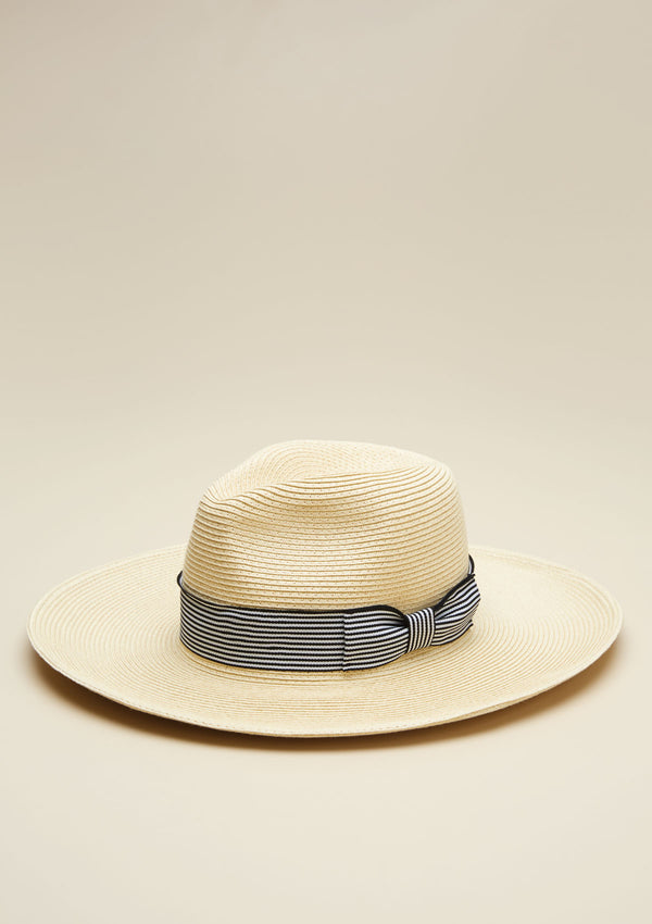 PANAMA HAT WITH STRIPE DETAIL