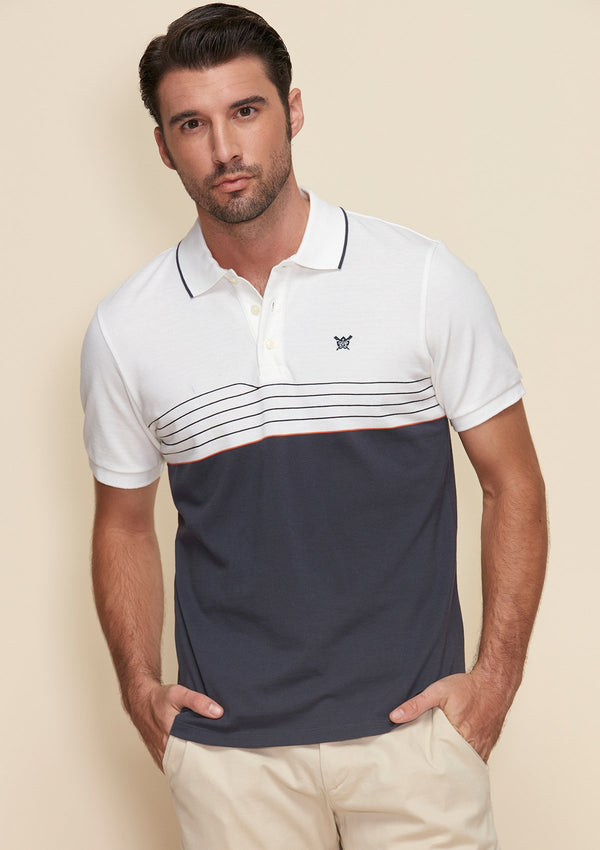 POLO SHIRT WITH DYNAMIC LINE DETAIL