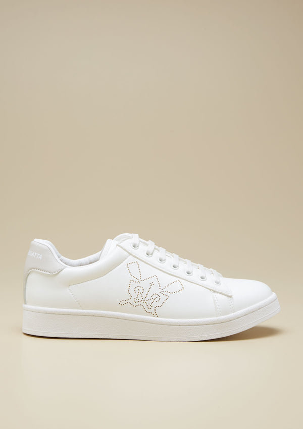 MEN PERFORATED LOGO SNEAKERS
