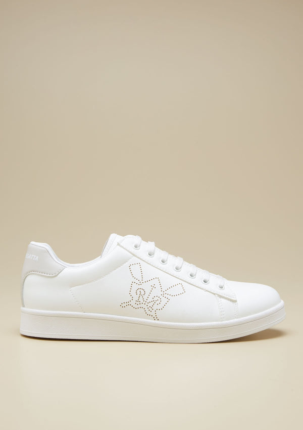 WOMEN PERFORATED LOGO SNEAKERS