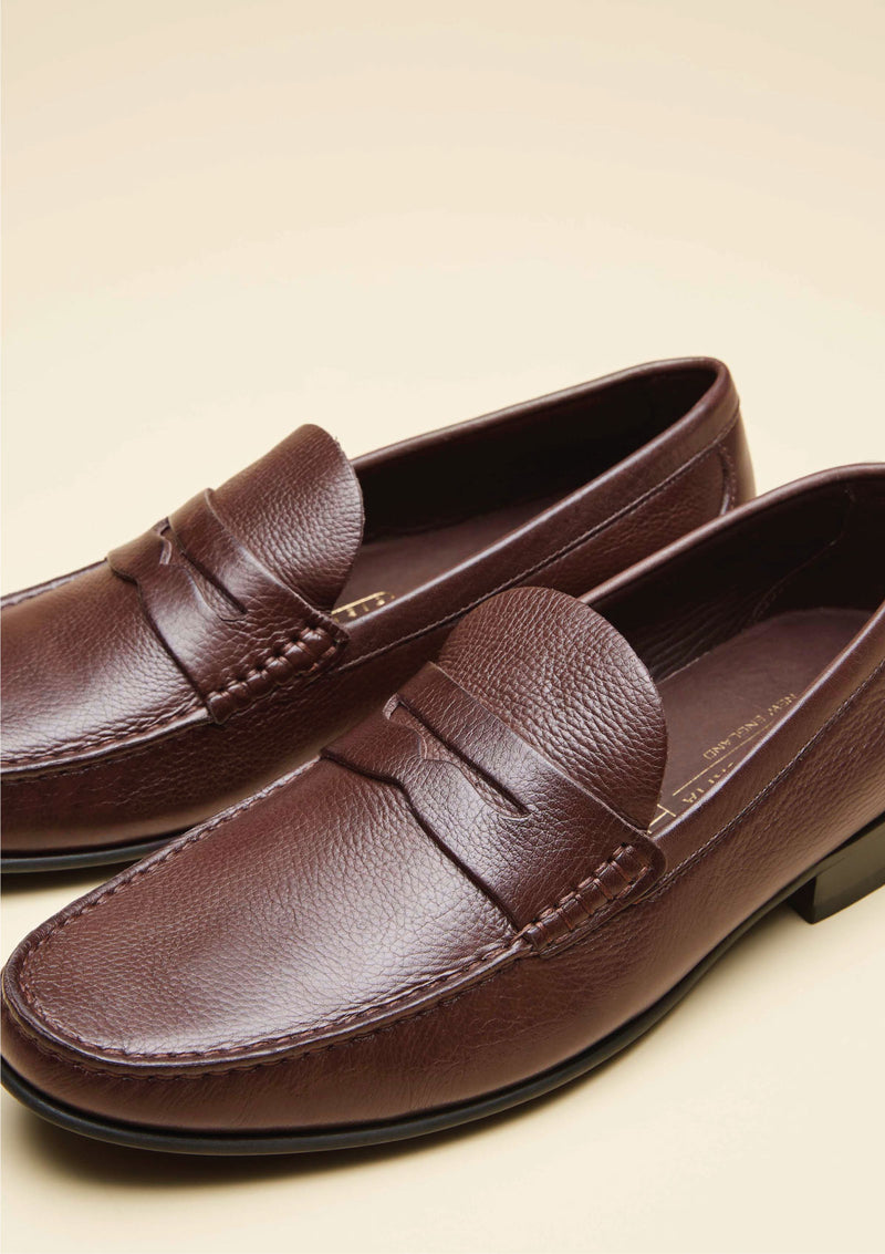 Grained Texture Loafers