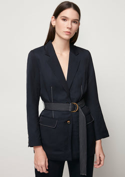 SINGLE-BREASTED BLAZER WITH BELT