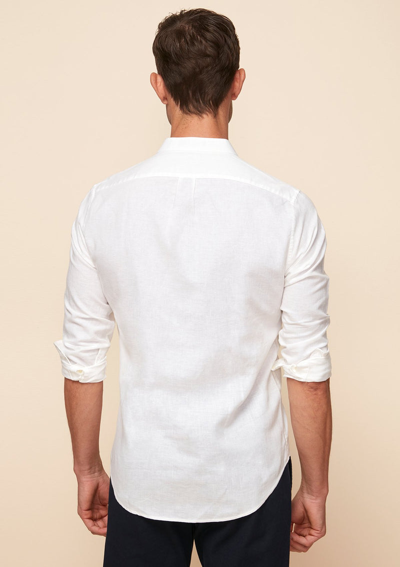 GRANDAD COTTON LINEN SHIRT