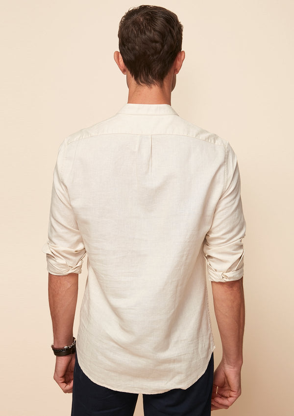 OVERHEAD SHIRT WITH GRANDAD COLLAR