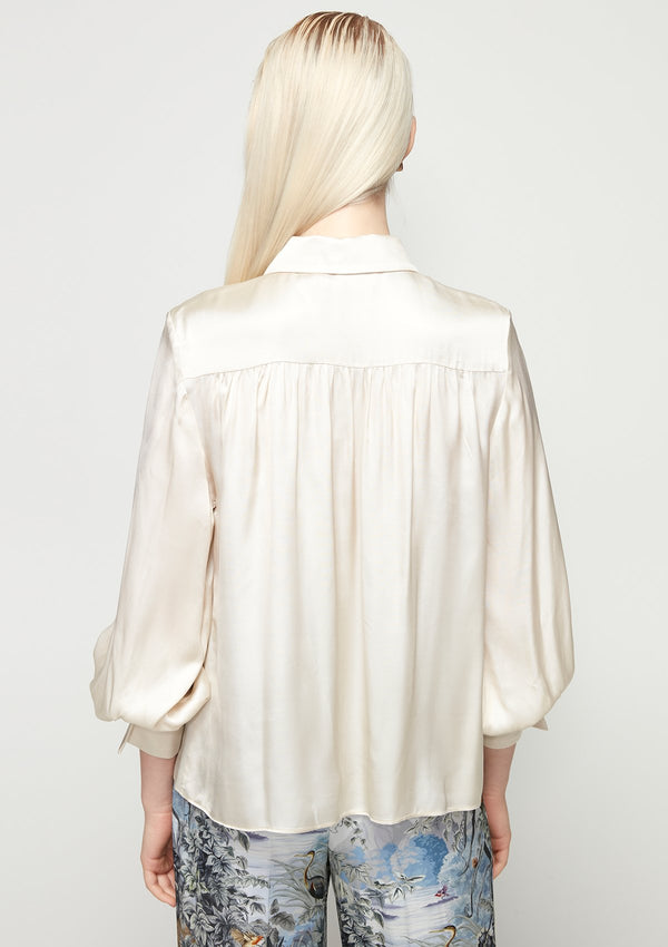 LONG-SLEEVED SATIN SHIRT
