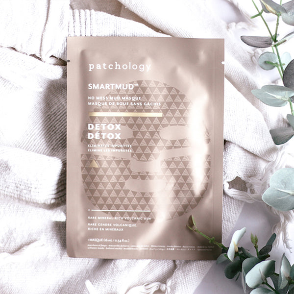 PATCHOLOGY SMARTMUD NO MESS MUD MASK: DETOX SHEET MASK - 4 PCS