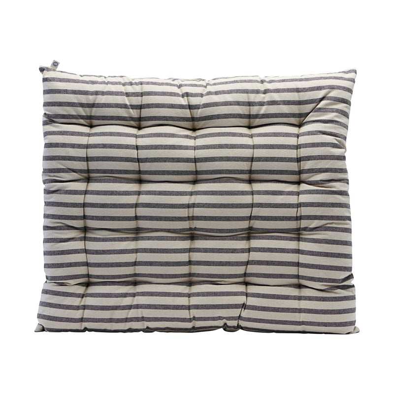 HOUSE DOCTOR SEAT CUSHION, STRIPED, BLACK/GREY, 60X70CM