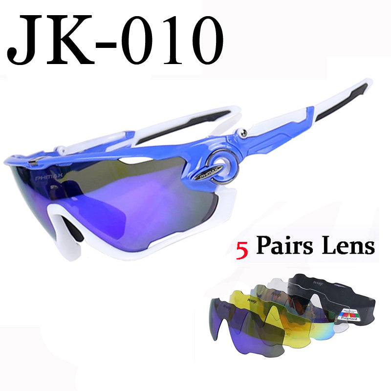 2938efcf97 PHMAX Polarized Cycling SunGlasses Mountain Bike Goggles 5 Lens UV400 Cycling  Eyewear Bicycle Sunglasses Cycling Glasses