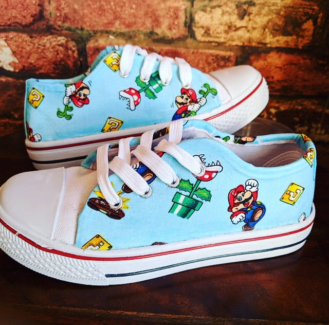 Nintendo Mario inspired custom trainers