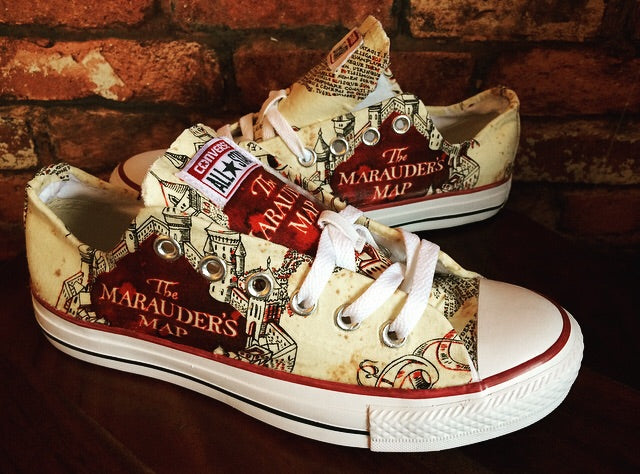 Harry Potter Marauders Map Converse