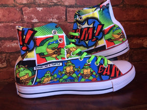 Ninja Turtles Inspired Custom Trainers