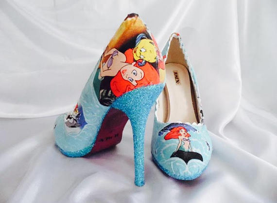Disney Little Mermaid Heels