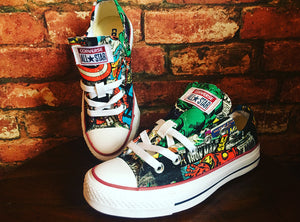 Avengers Marvel Inspired Converse Trainers