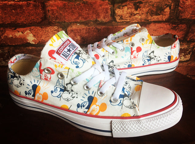 Disney Mickey Mouse Converse Shoes – Trainers – Mickey Mouse Shoes – Mens – Women's – Children's