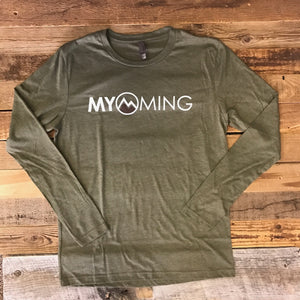 Men's Myoming Long Sleeve- Military Green/Brown
