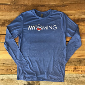 Men's Myoming Long Sleeve Vintage Royal w/red