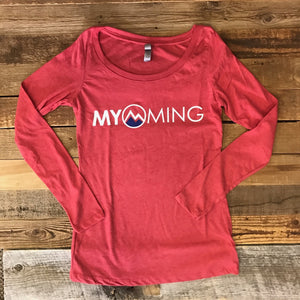 Women's Myoming Long Sleeve- Red