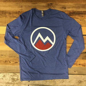 Men's Myoming Mountain Long Sleeve- Blue
